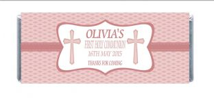 Girl Communion Chocolate Candy Bar Wrapper Design 3